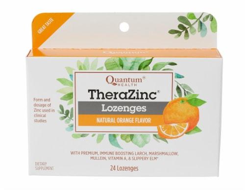 Quantum Health Thera Zinc Lozenges - Orange Flavor Perspective: front