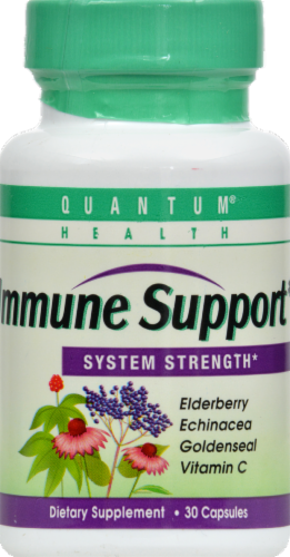 Quantum Health Immune Support System Strength Capsules Perspective: front