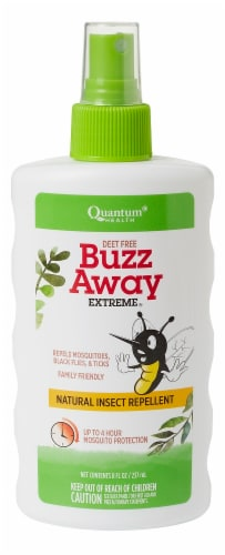 Quantum Health Deet Free Buzz Away Extreme Insect Repellent Perspective: front