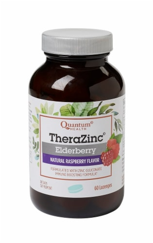 Quantum Health Thera Zinc Elderberry Lozenges Perspective: front