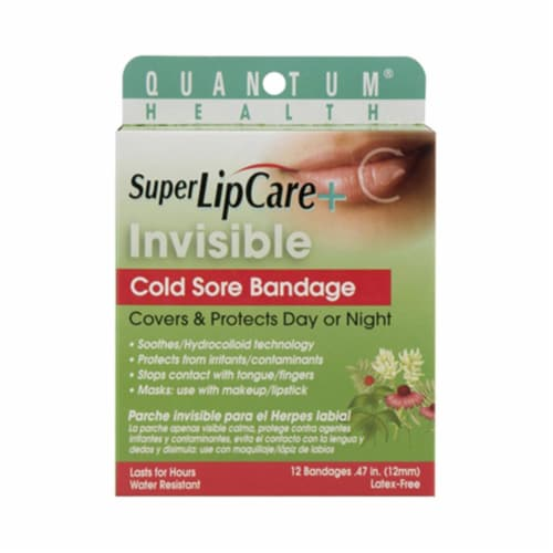 Quantum Research Lipcare Plus Invisible Cold Sore Bandage - 12 count Perspective: front