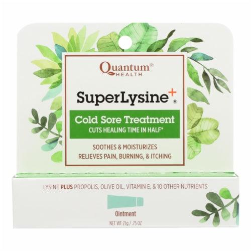 Quantum Health Super Lysine Cold Sore Treatment Perspective: front