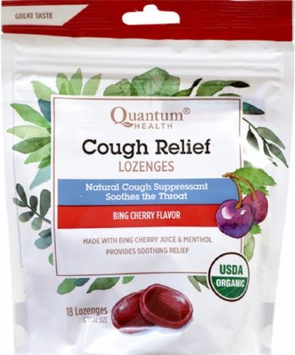 Quantum Health Cough Relief Bing Cherry Flavor Lozenges Perspective: front