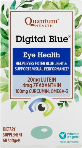 Quantum Health Digital Blue Eye Health Softgels Perspective: front