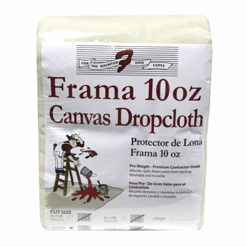 Trimaco  Frama  12  W x 15 ft. L 10  Canvas  Drop Cloth  1 pk - Case Of: 1; Each Pack Qty: 1; Perspective: front