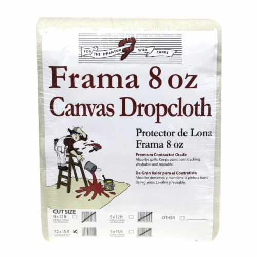Trimaco  Frama  12  W x 15 ft. L 8  Canvas  Drop Cloth  1 pk - Case Of: 1; Each Pack Qty: 1; Perspective: front