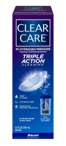 Alcon Clear Care Triple Action Cleaning & Disinfecting Solution Perspective: front