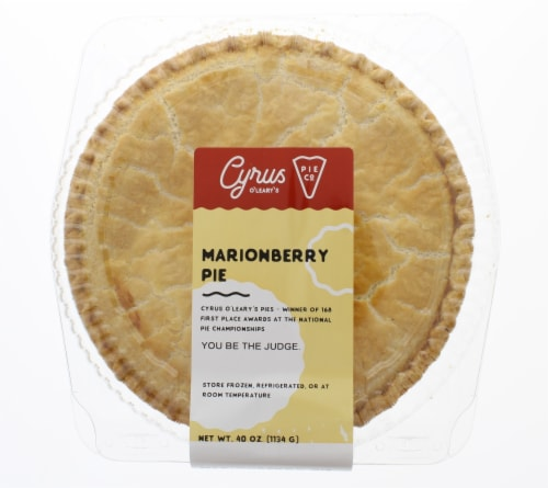Cyrus O'Leary's Baked Marionberry Pie Perspective: front