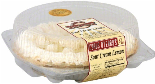 Cyrus O'Leary's Pies Sour Cream Lemon Pie Perspective: front