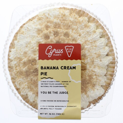 Cyrus O'Leary's Pies Banana Cream Pie Perspective: front