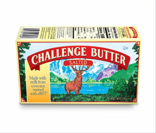 Challenge Salted Butter Quarters Perspective: front
