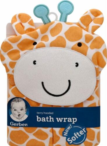 Gerber Giraffe Terry Hooded Bath Wrap Perspective: front