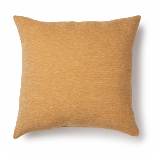 Brentwood Crown Chenille Decor Pillow - Yellow Perspective: front