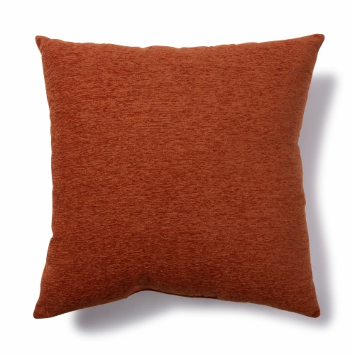 Brentwood Crown Chenille Oversized Decor Pillow - Rust Perspective: front