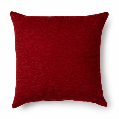 Brentwood Crown Chenille Oversized Decor Pillow - Red Perspective: front
