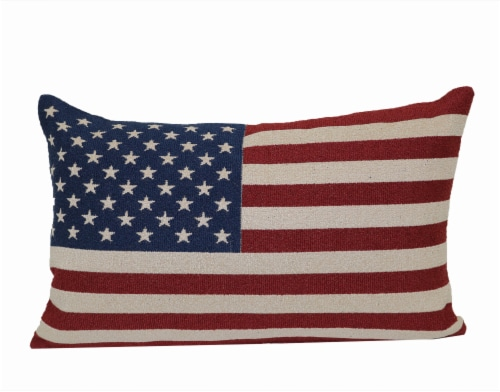 Brentwood Patriotic Flag Décor Pillow - Red/White/Blue Perspective: front