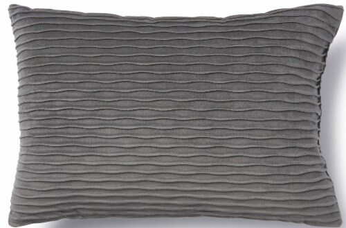 Brentwood Originals Ripple Décor Pillow - Grey Perspective: front