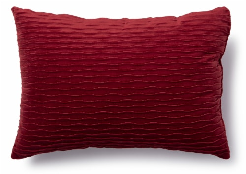 Brentwood Originals Ripple Decor Pillow - Red Perspective: front
