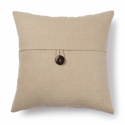 Brentwood Stafford Button Decor Pillow - Wheat Perspective: front