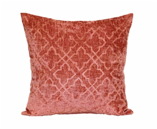 Brentwood Colbrook Pressed Chenille Pillow - Salmon Perspective: front
