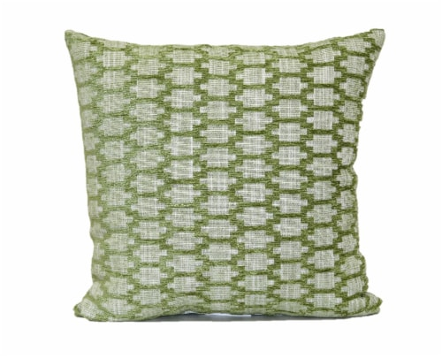 Brentwood Hopson Chenille Decorative Pillow - Leaf Green Perspective: front