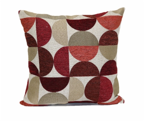 Brentwood Moon Phases Decorative Pillow - Red Perspective: front