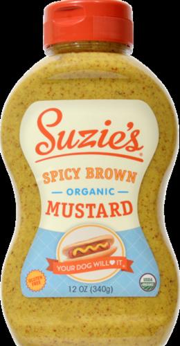 Suzie's Organic Spicy Brown Mustard Perspective: front