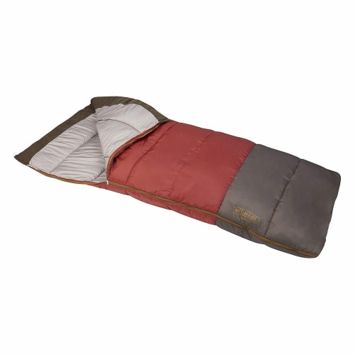 Wenzel Lodgepole 40 to 50 Degree Fahrenheit Camping Sleeping Bag, Adult (Red) Perspective: front