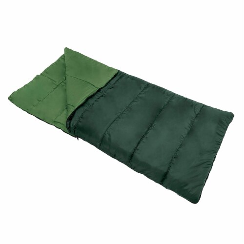 Wenzel Cascade 40 to 50 Degree Fahrenheit Camping Sleeping Bag, Adult (Green) Perspective: front