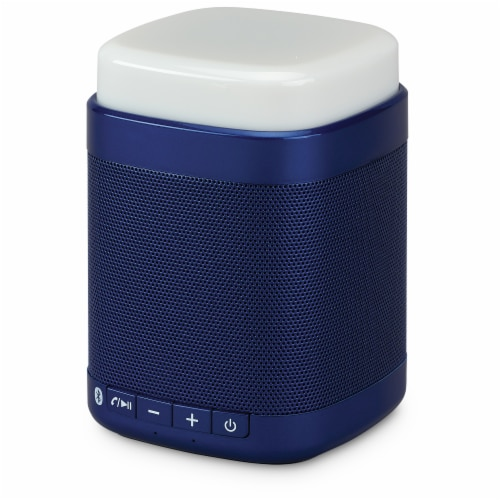 iLive Touch Light Bluetooth Speaker - Blue/White Perspective: front