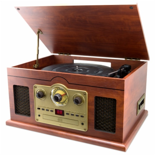 iLive 6-In-1 Turntable Stereo System Perspective: front