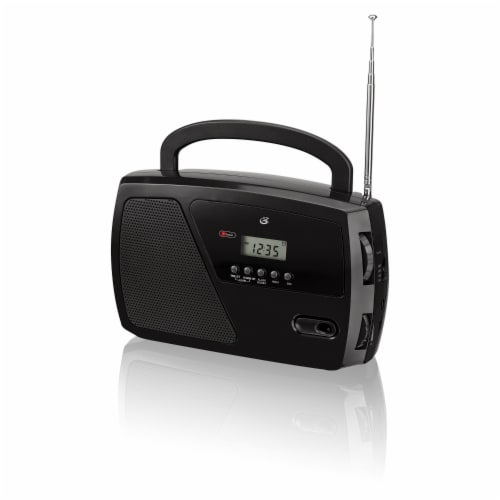 GPX AM/FM Portable Shortwave Radio - Black Perspective: front