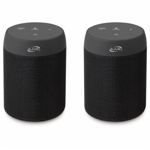 iLive Portable Bluetooth Speaker 2 Pack Perspective: front