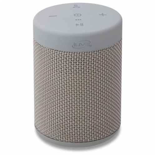 iLive Bluetooth Waterproof Portable Speaker - Gray Perspective: front