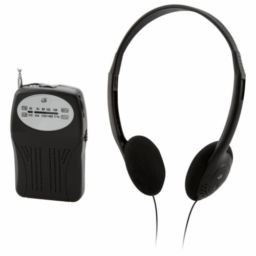GPX R116B Compact Radio Perspective: front