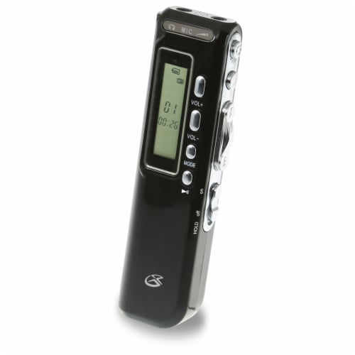 GPX Digital Voice Recorder - Black Perspective: front