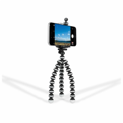 GPX Micro Flexible Tripod - Black/White Perspective: front