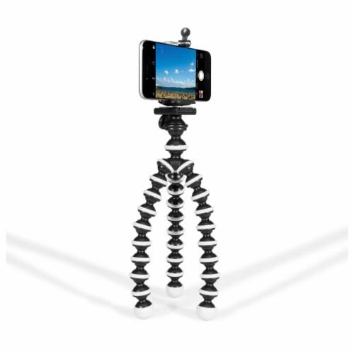 GPX Mini Flexible Tripod - Black/White Perspective: front