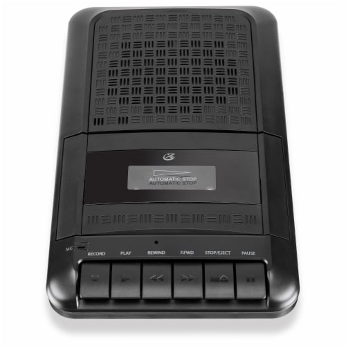GPX PRC257B Portable Cassette Player Perspective: front