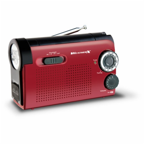Wr182r Weatherband/am/fm Radio Flashlight Perspective: front