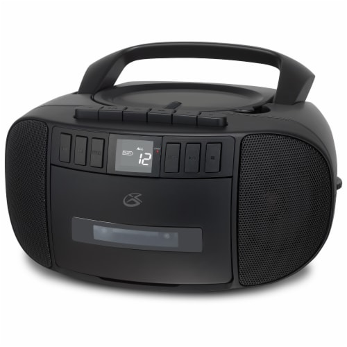 GPX CD FM Cassette Boombox - Black Perspective: front