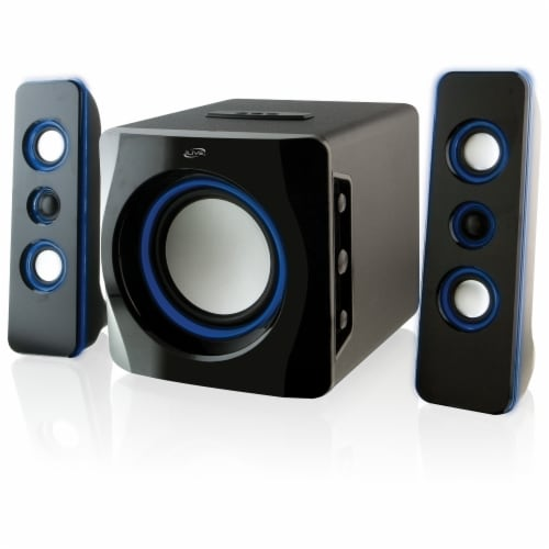 iLive Wireless Bluetooth 2.1 Speaker System & Subwoofer Perspective: front