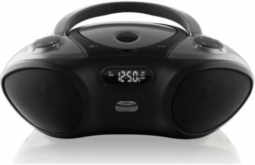 iLive Bluetooth Boombox and Radio - Black Perspective: front