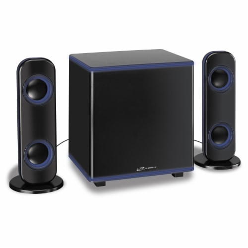 iLive Wireless 2.1 Bluetooth Speaker System - Black Perspective: front