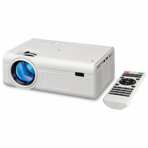 GPX Mini Projector - White Perspective: front