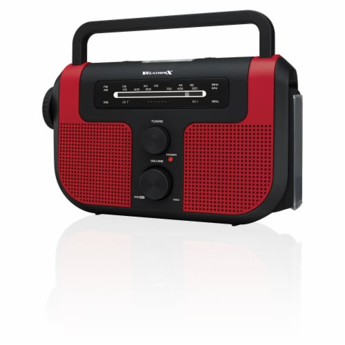 Weatherx WR383R AM/FM Weatherband Radio - Red/Black Perspective: front