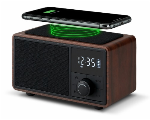 Msbq270dw Bluetooth Clock Radio with Wireless Charging Perspective: front