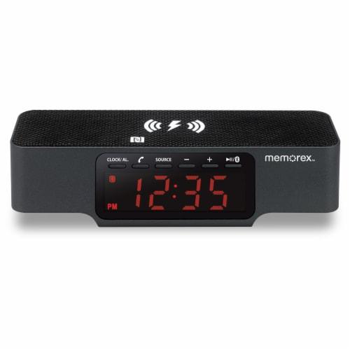 Memorex Wireless Charge Alarm Clock - Black Perspective: front