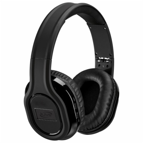 iLive Platinum Noise-Cancelling Bluetooth Headphones - Black Perspective: front
