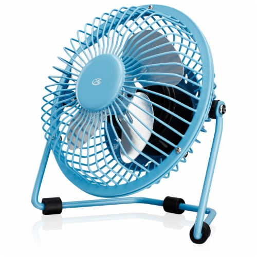GPX USB-Powered Portable Fan - Blue Perspective: front
